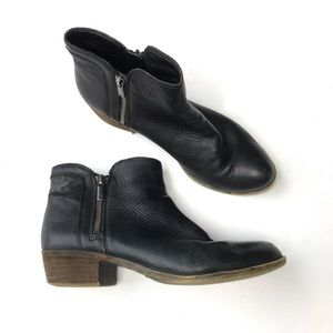 Lucky Brand Basel Out Ankle Boots Zipper Black